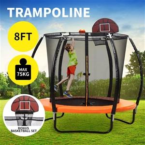 8FT Trampoline Round Trampolines Kids En