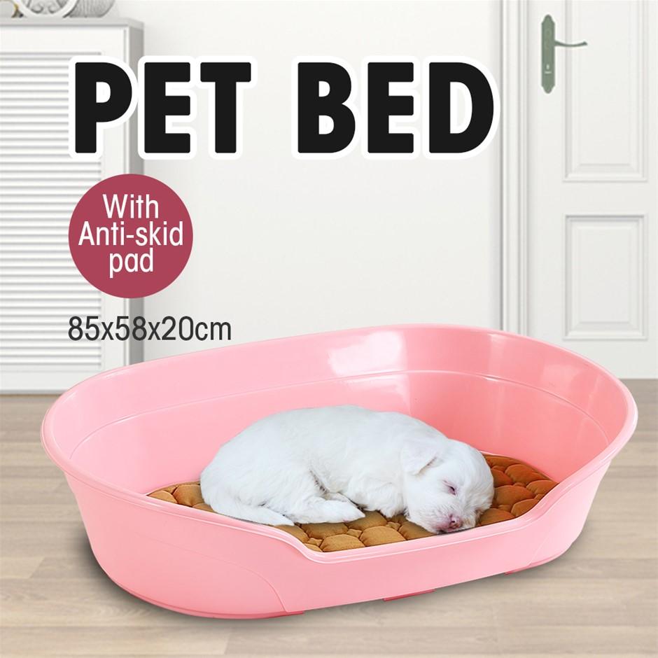 Large 85cm Plastic Pet Bed Ventilation Holes Resting Plastic Dog Basket