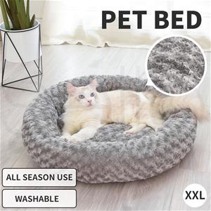 Pet Bed Dog Cat Nest Calming Donut Mat S