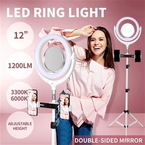 LED Ring Light w/ Tripod Stand Holder Di