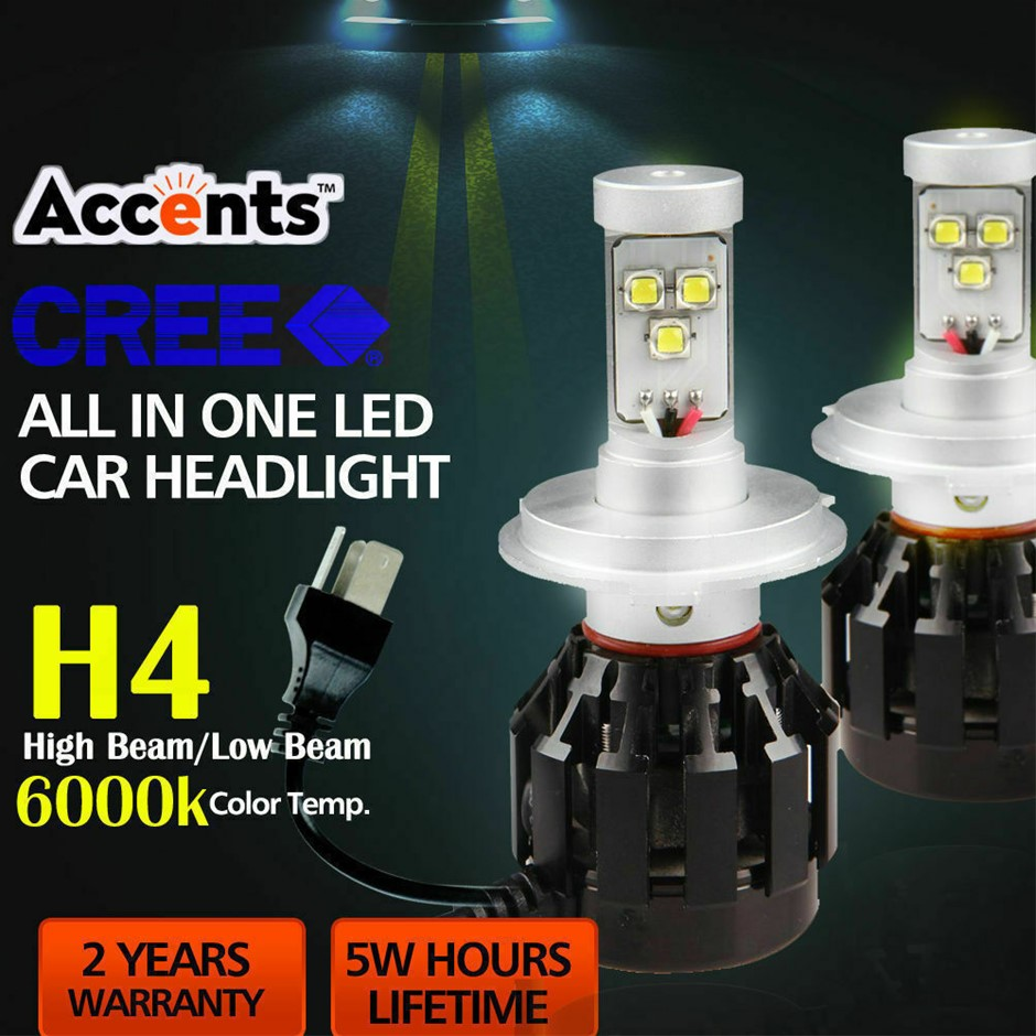 4 Side Cree LED Car Headlight 160W 16000LM High Low Beam Replace Xenon HID