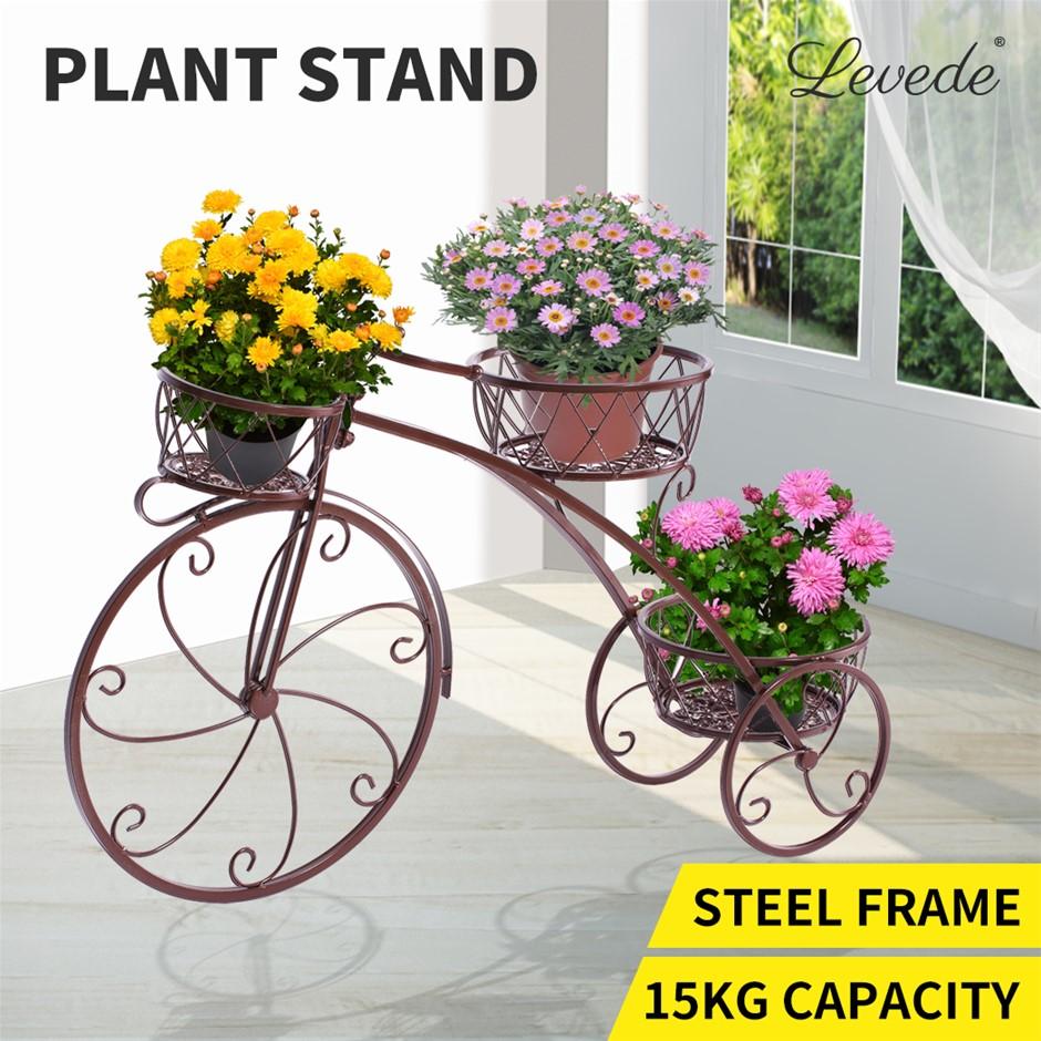 Levede Plant Stand Indoor Metal Flower Pots Planter Garden Shelf Rack