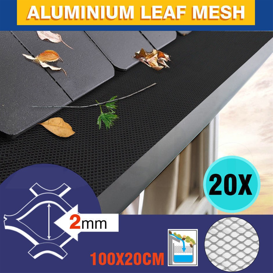 20m Gutter Guard Mesh Aluminium Guards Twigs Filter Garden Leaf Brush DIY