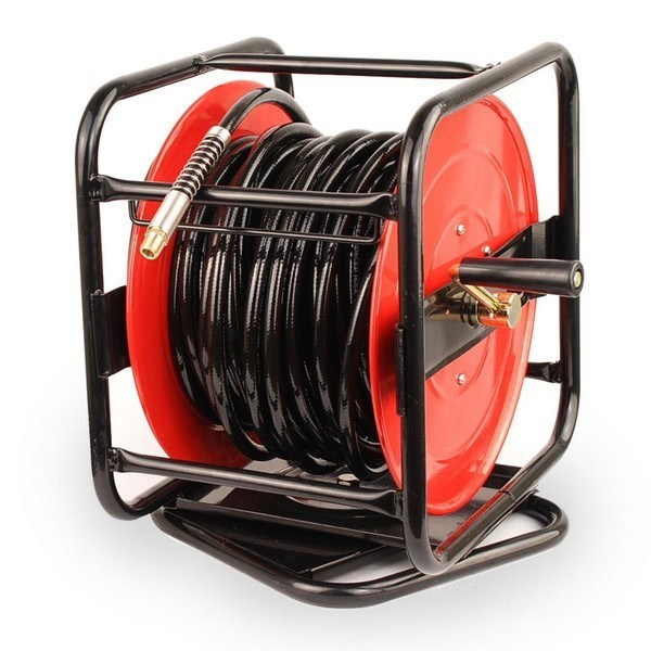 Professional 30m Hand Crank Air Hose Reel 360 Degree Swivel