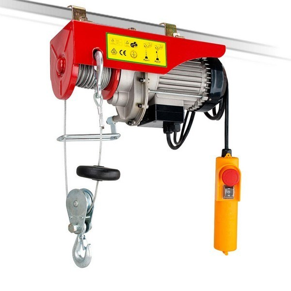250 / 500 Kg 12m Rope Electric Winch / Hoist