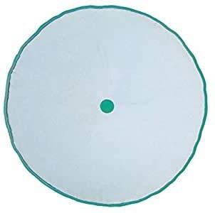 BAMBURY Spot Round Cushion, Sky. 100% Cotton. Diameter 43cm. Buyers Note -