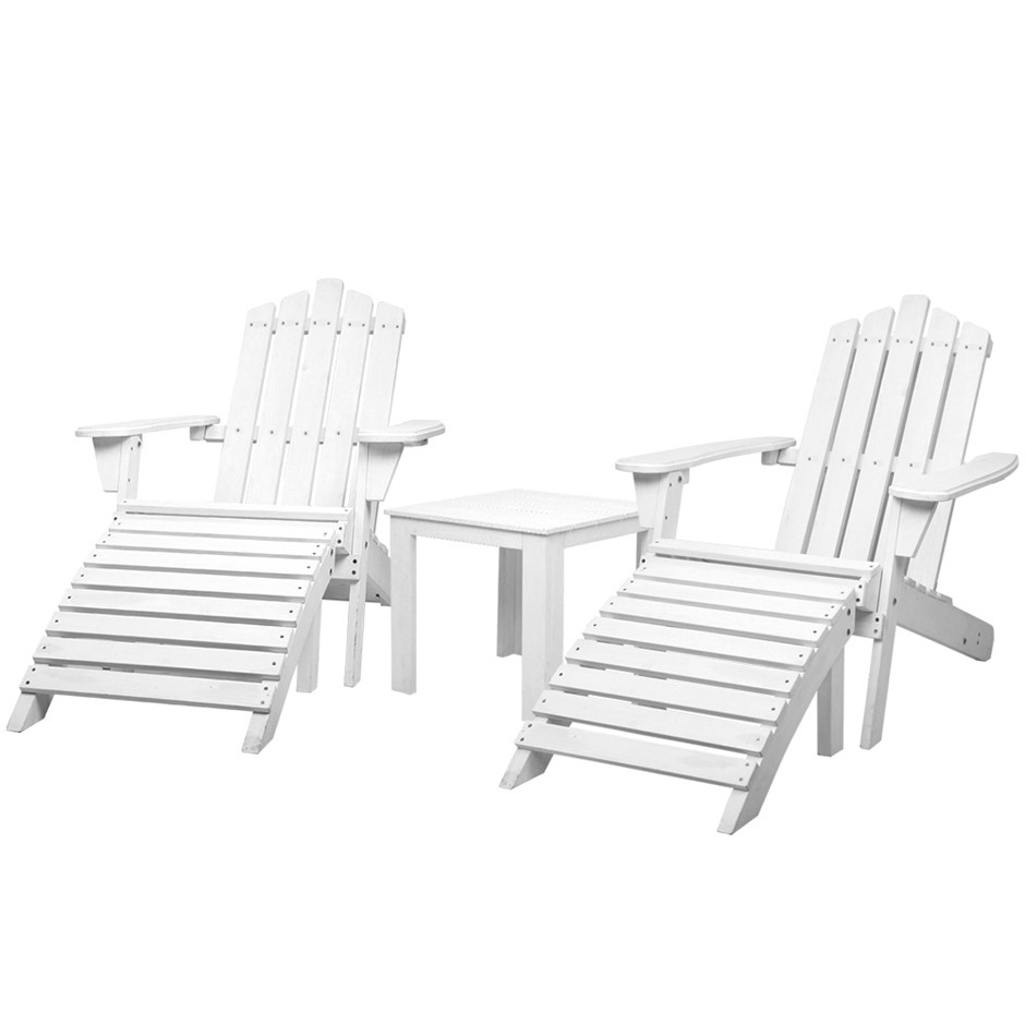 Gardeon Outdoor Sun Lounge Chairs Table Setting Wooden Patio Chair