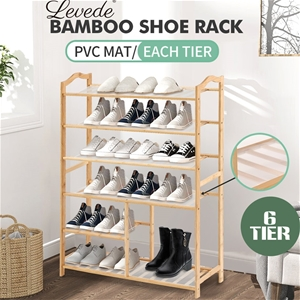 Levede Bamboo Shoe Rack Wooden Organizer