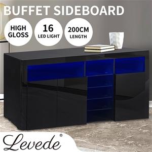 Levede Buffet Sideboard Storage Modern H