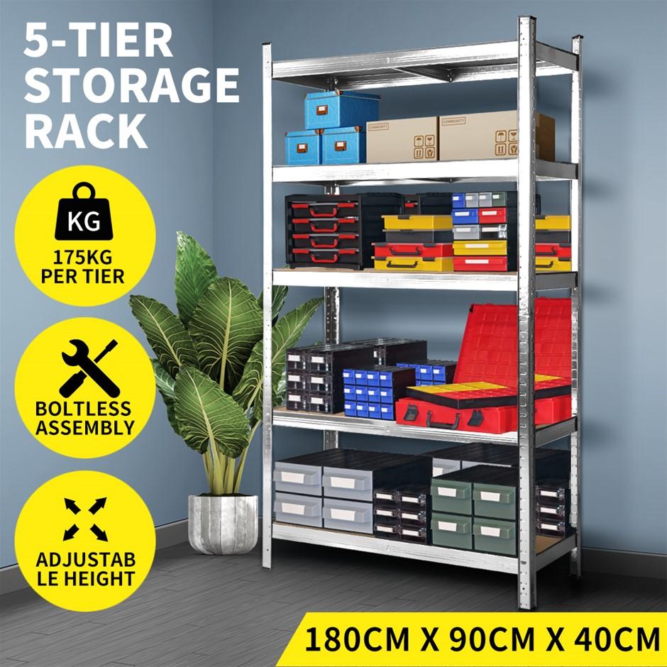 1.8M Warehouse Shelving Racking Steel Pallet Garage Shelves Metal Rack