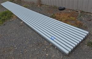 Pack of 15.4m (L) Corrugated Zincalume R