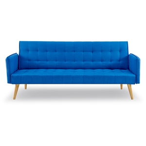 3 Seater Sofa Bed Linen 2840 in Blue