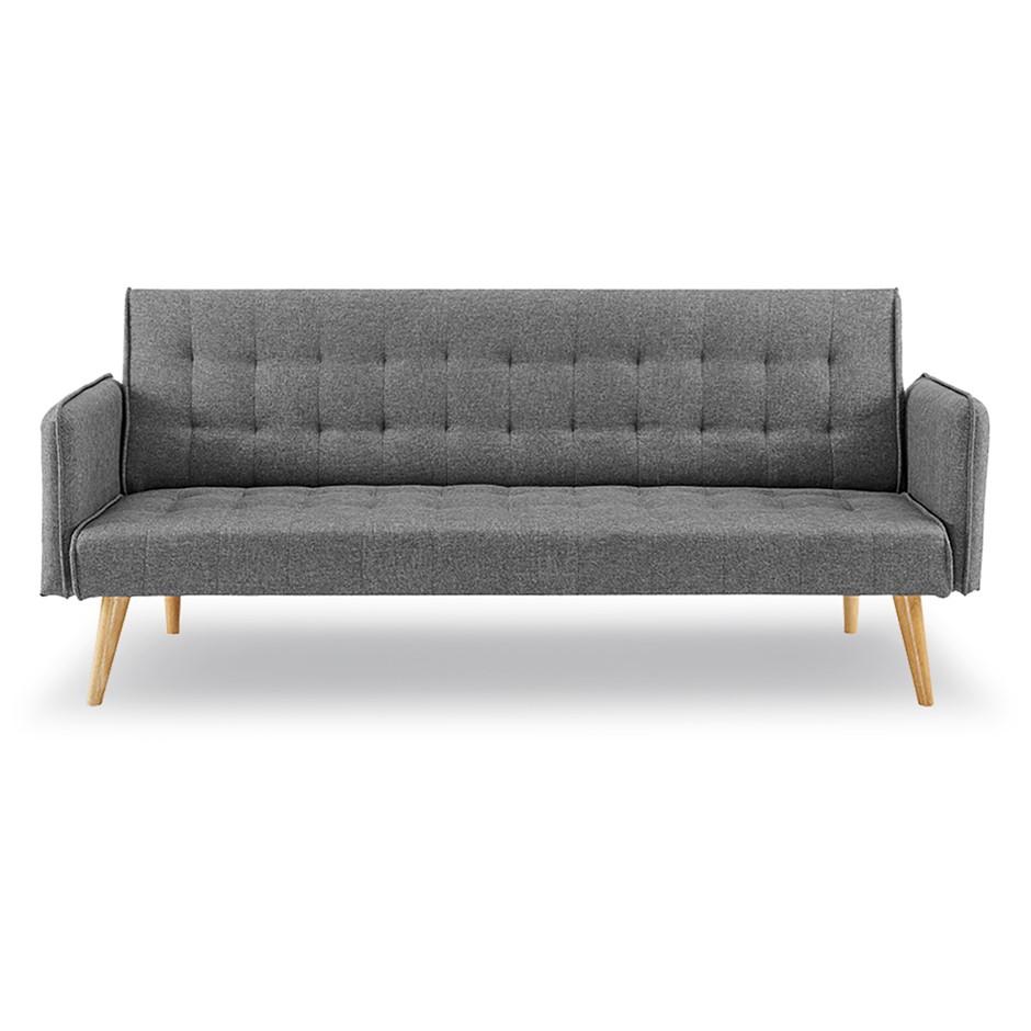 3 Seater Sofa Bed Linen 2840 in Dark Grey