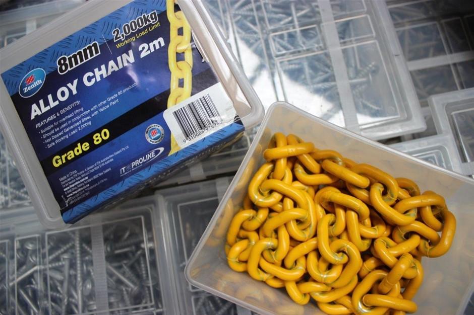 Zenith Alloy Chain 2 Meter x 8mm Grade 80 Working Load Limit 2000Kg