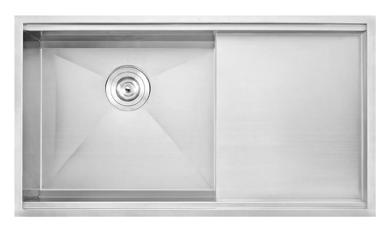 Ventura U/mount Sink 840mm - 1.2mm SS inc waste/acc