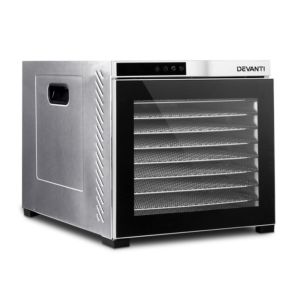 Devanti Food Dehydrators Commercial Beef Jerky Stainless Steel Dryer