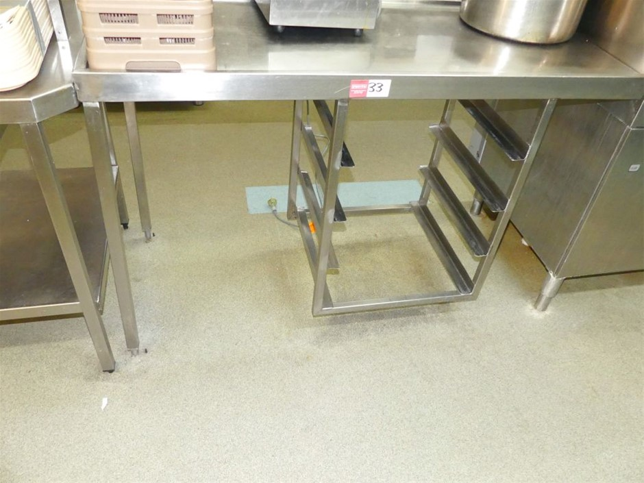 Large Stainless steel Wet Bench with Sink