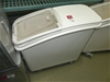 Rubber Maid Dry Food Floor Storage Bins with Castor Wheels