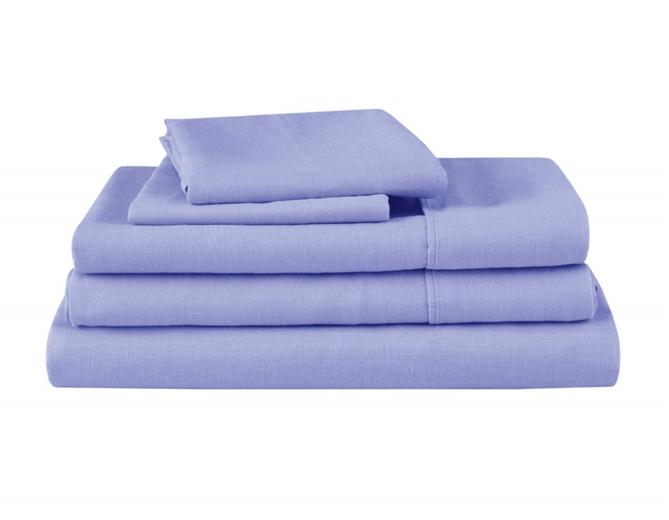 Natural Home Linen Sheet Set King Bed BLUE