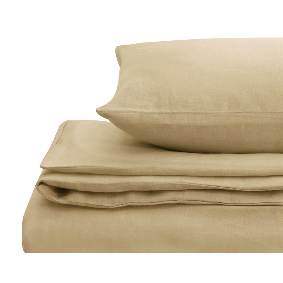 Natural Home Linen Quilt Cover Set Queen Bed HAZENLUT