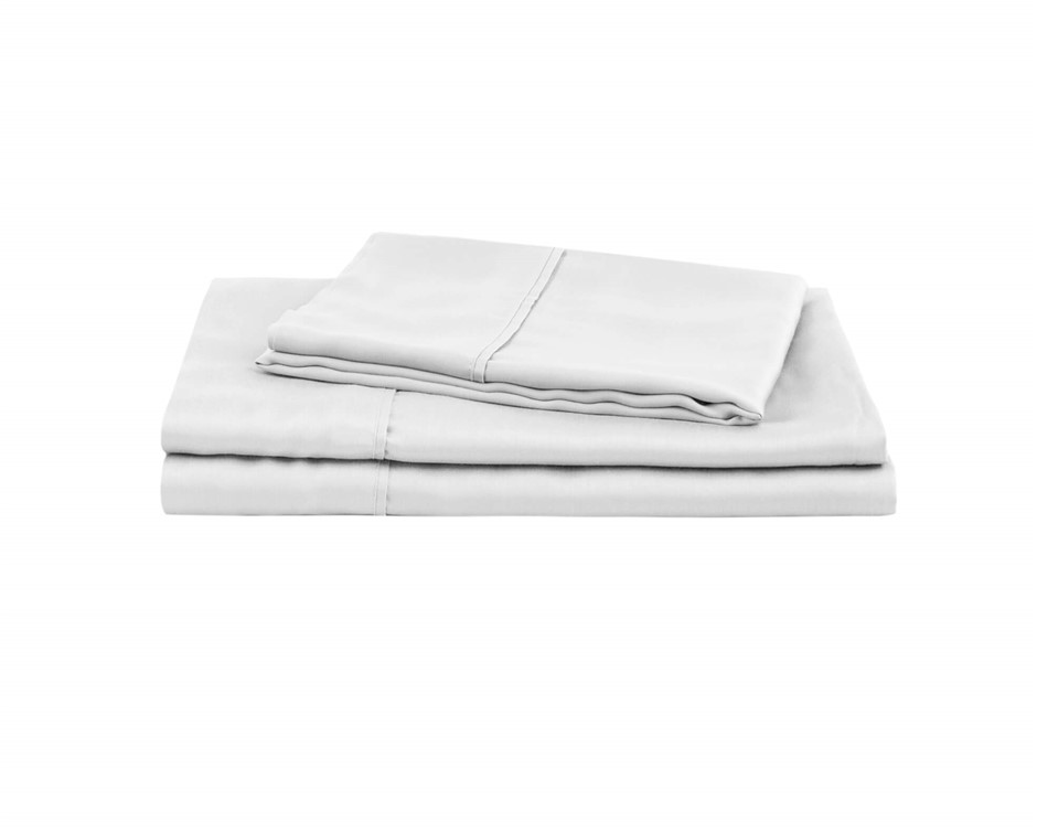 Natural Home Tencel Sheet Set Single Bed WHITE