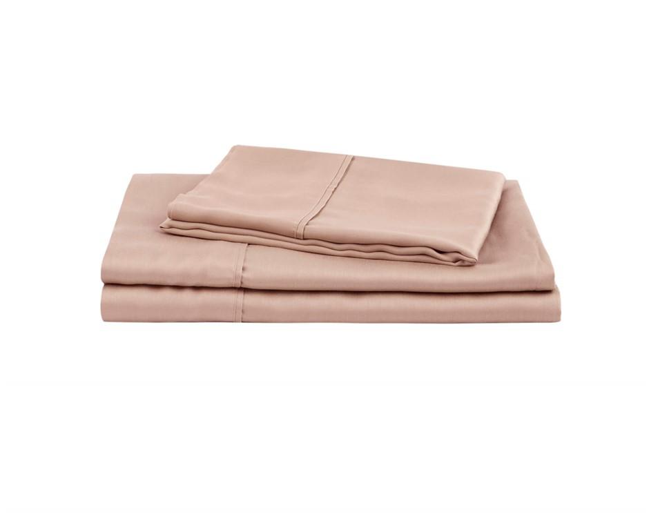 Natural Home Tencel Sheet Set King Single Bed HAZELNUT