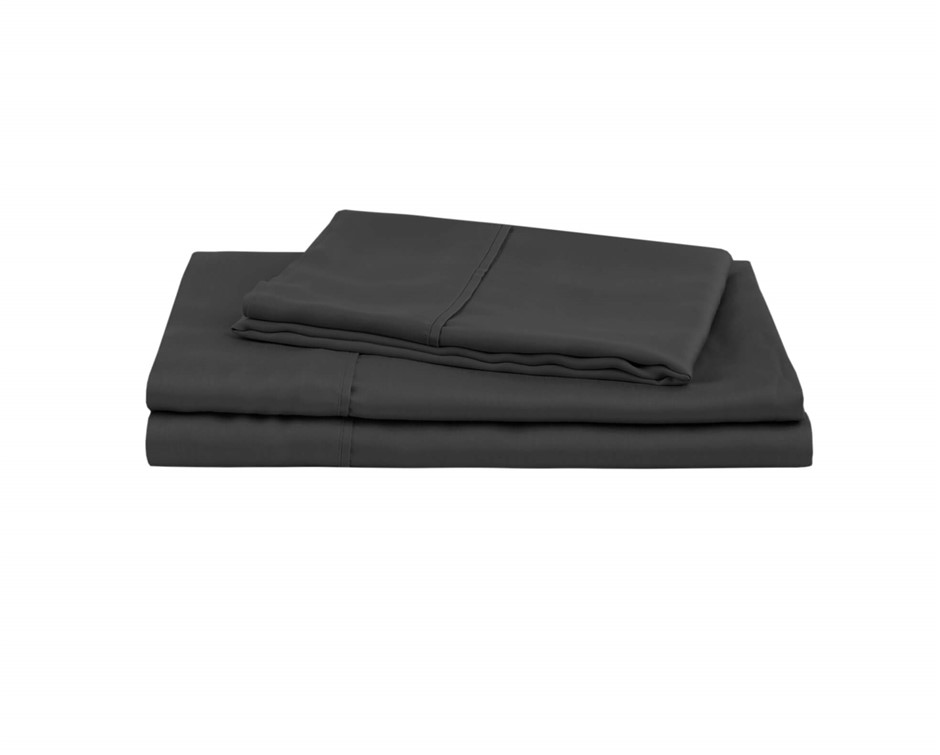 Natural Home Tencel Sheet Set King Bed CHARCOAL