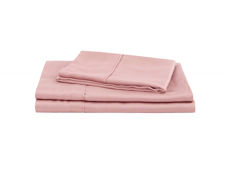 Natural Home Tencel Sheet Set King Single Bed BLUSH PINK