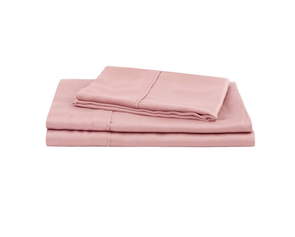 Natural Home Tencel Sheet Set King Bed BLUSH PINK