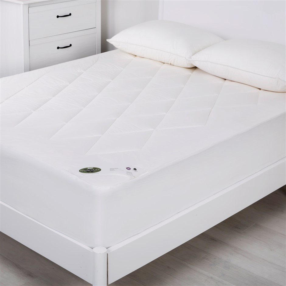 Wooltara Luxury Washable Cotton Japara Wool Rich Mattress Topper Single Bed