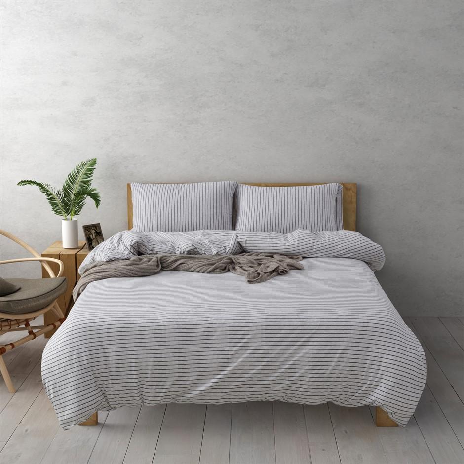 Dreamaker Cotton Jersey Quilt Cover Set Durham King Bed