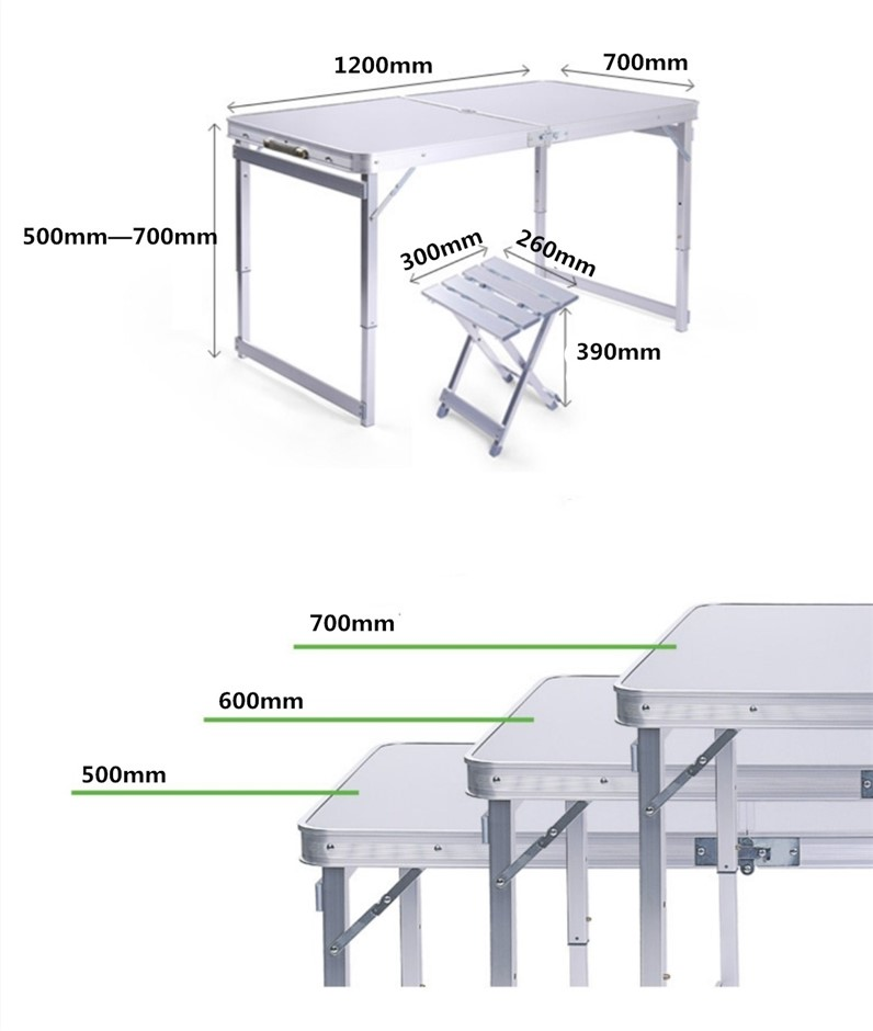 1.2m outdoor folding table and chairs(4 Aluminum chairs) (Pooraka, SA)