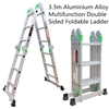 3.3m Aluminium Alloy Multifunction Double Sided Foldable Ladder(Pooraka,SA)