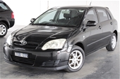Unreserved 2005 Toyota Corolla Ascent Seca Manual Hatchback