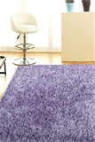 XS Lilac Handmade Silky Finish Shag Rug - 80X50cm