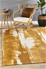 Extra Large Mustard Abstract Jacquard Woven Rug - 320X230cm