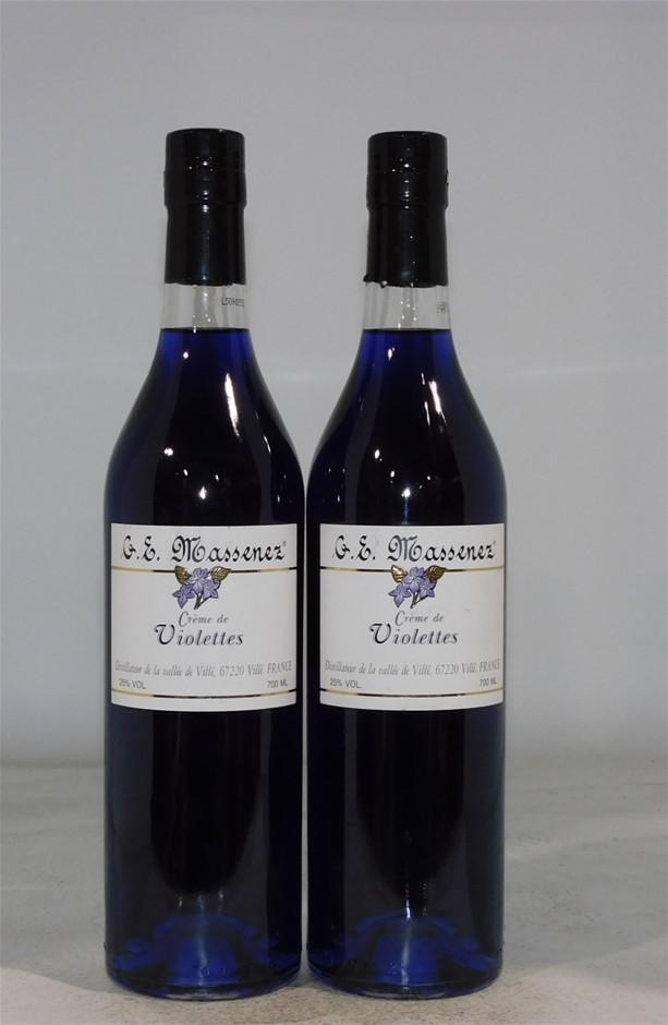 G.E.Massenez Crème De Violettes Violet Liqueur NV (2x 700mL), France