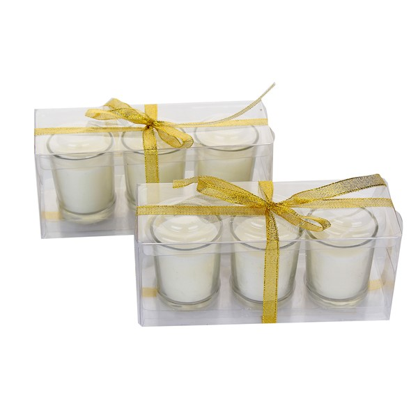 Lot of 72pcs X Clear Wedding Votive Candle with Clear Glass Candle Holder