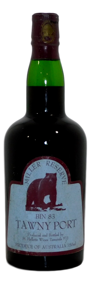 St Halletts Miller Reserve Bin 83 Tawny Port NV (1x 750mL), Barossa. Cork