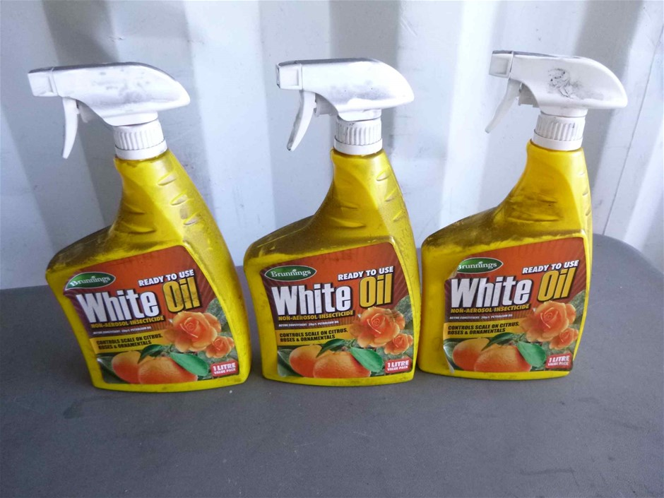 3 x 1 Litre Brunnings White Oil Insecticide