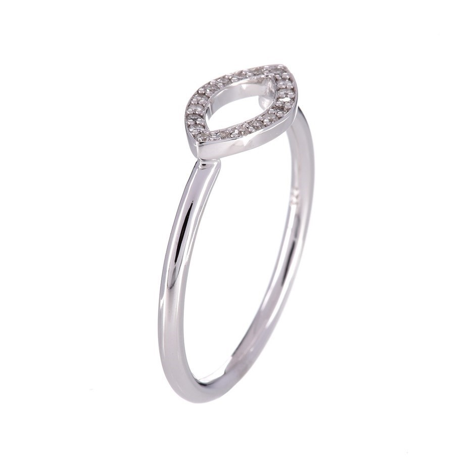 9ct solid white gold and diamond ring 0.10ct TDW