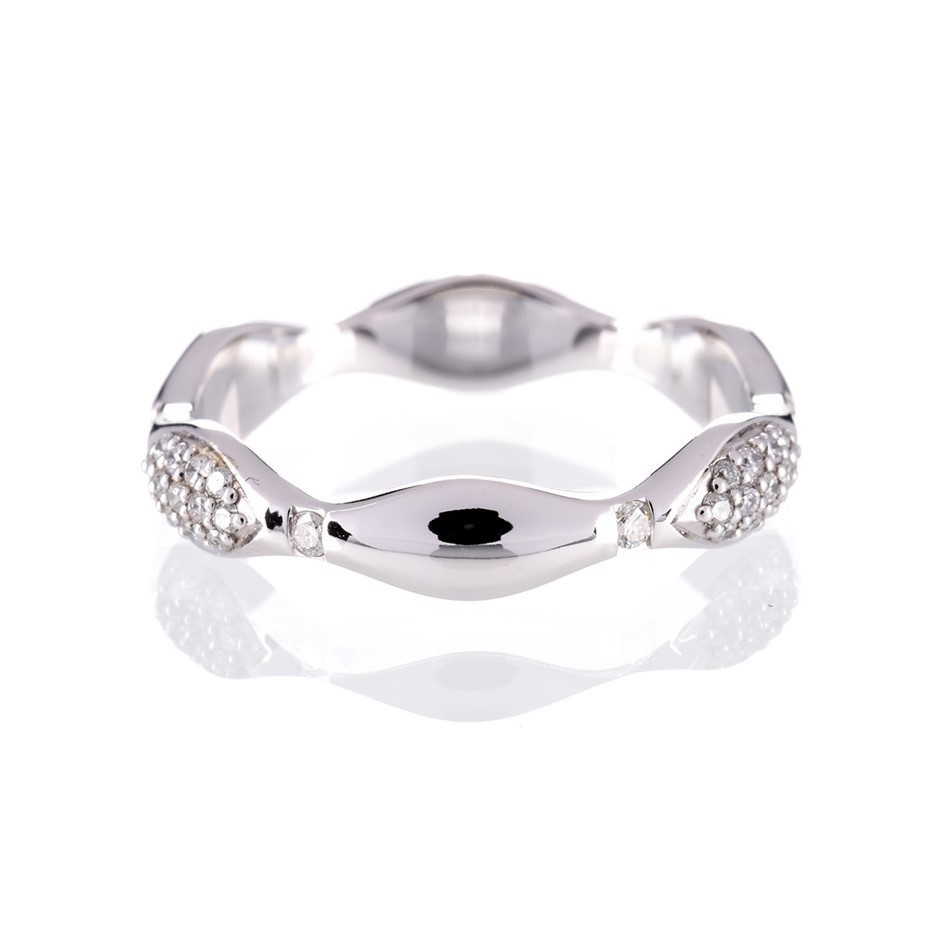 Solid white gold and diamond ring 0.35ct TDW