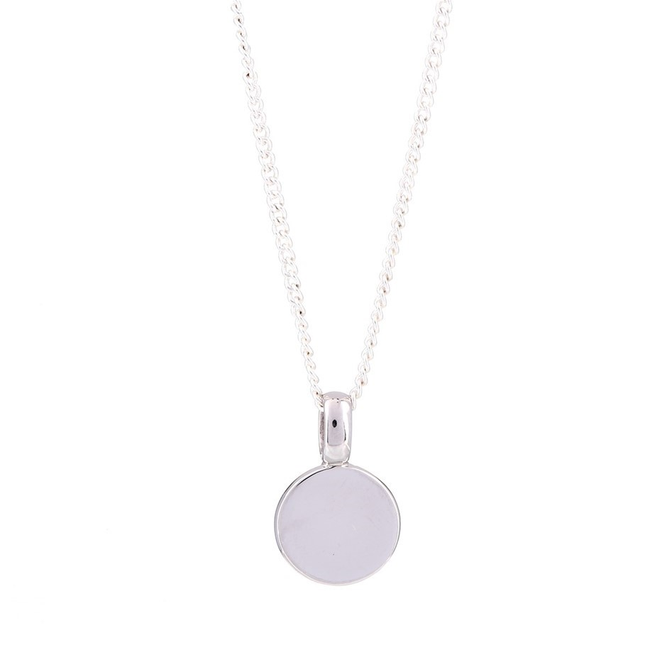 Rhodium plated solid sterling silver pendant