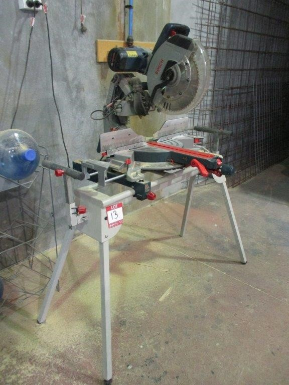 2016 Bosch GCM12 GDL Stand Mounted Mitre Saw