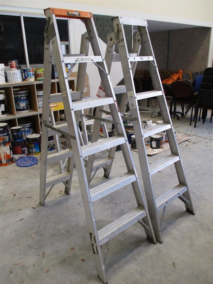 Qty 2 x Dual Purpose Ladders