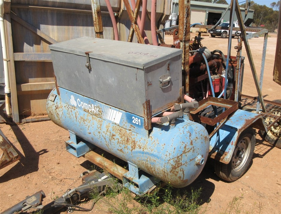 Compair Air Compressor on Trailer used for pruning