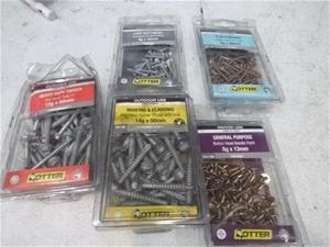 Box of Assorted Hardware, Screws & Rivet