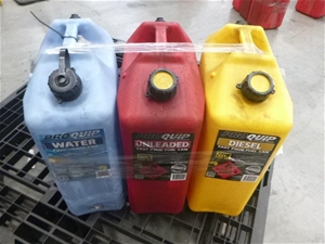 3 x Assorted 20 Litre Jerry Cans