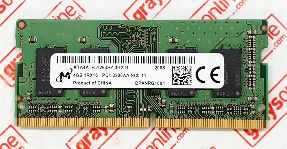 Micron 4GB DDR4 3200AA 260pin Sodimm Laptop Memory