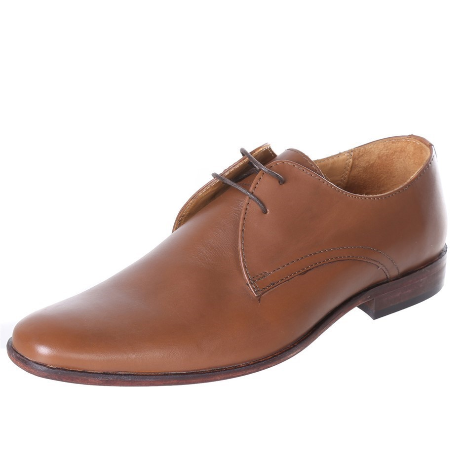 STUDIO W Ay Teak Lace Up Dress Shoes. Size 8, Colour: Tan. Buyers Note - Di